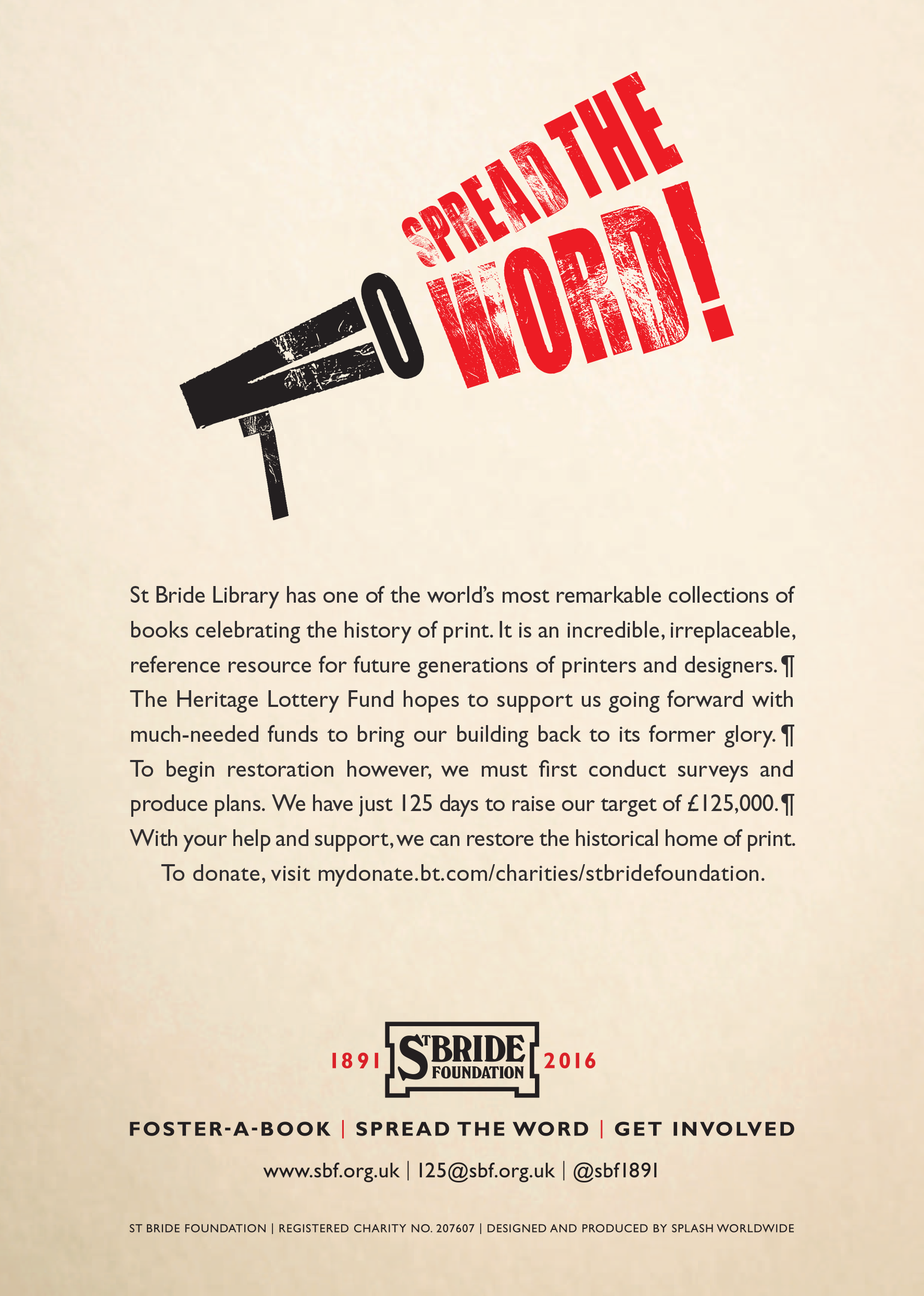 St Bride Foundation Poster 2